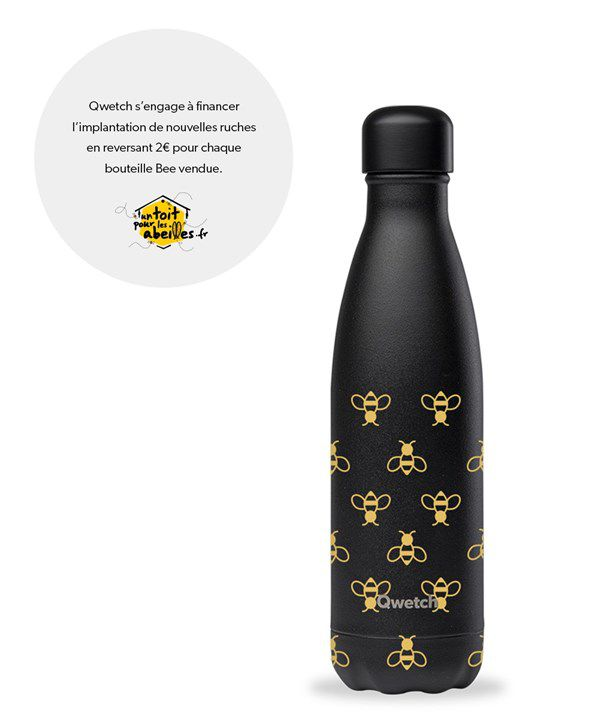 Gourde Qwetch - Bee 500ml
